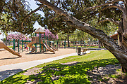 Children's Playground Equipment at Hart Park in Orange California
