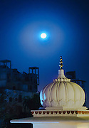 Moon over India.