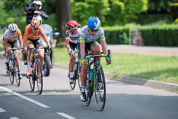 Annemiek van Vleuten sets the pace as five riders escape at Boels Hills Classic 2016. A 131km road race from Sittard to Berg en Terblijt, Netherlands on 27th May 2016.