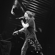 PHILADELPHIA, PA - SEPTEMBER 20:  Singer Axl Rose performs with AC/DC during Rock Or Bust Tour at the at Wells Fargo Center on September 20, 2016 in Philadelphia, Pennsylvania.  (Photo by Lisa Lake/Getty Images for BT PR)