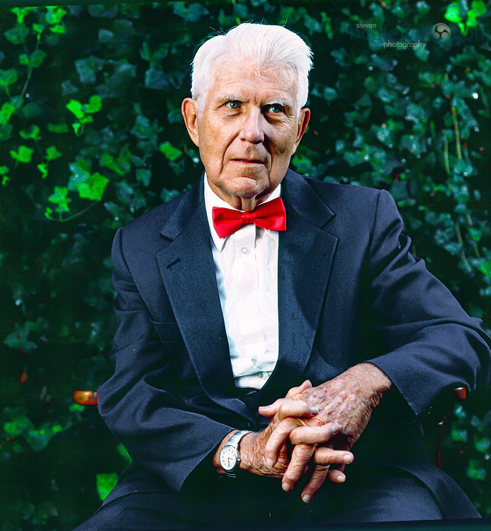 Dr. Aaron T. Beck, father of Cognitive Therapy and Cognitive Behavioral Therapy. Photographed at his home in Philadelphia PA.2005. Born July 18th. 1921.
