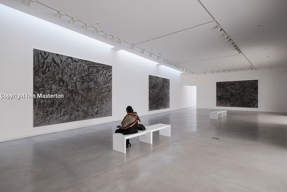 art installations by Julie Mehretu at 2015 Sharjah Biennial art festival in Sharjah united Arab Emirates