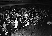 """24/07/1967<br /> 07/24/1967<br /> 24 July 1967<br /> First showing of """"Fleá Cheoil"""" at the Metropole Cinema, Dublin. A presentation was made to the director of the film Mr. Louis Marcus, for winning the Silver Bear Award at the Berlin International Film Festival, by Taoiseach Jack Lynch TD, on behalf of the Cork Film Society, where Mr. Marcus began his carrier. President of the Society Mr. Sean Hendrick attended the presentation. A view of part of the crowd that attended the showing in the Metropole Cinema."""