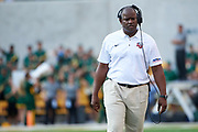 WACO, TX - SEPTEMBER 2:  Liberty Flames head coach Turner Gill looks on against the Baylor Bears during a football game at McLane Stadium on September 2, 2017 in Waco, Texas.  (Photo by Cooper Neill/Getty Images) *** Local Caption *** Turner Gill