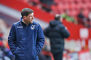 Bristol Rovers manager Darrell Clarke during the EFL Sky Bet League 1 match between Charlton Athletic and Bristol Rovers at The Valley, London, England on 24 November 2018.
