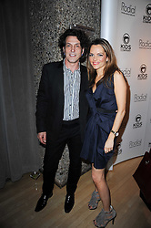Maria Hatzistefanis and STEPHEN WEBSTER at The Rodial Beautiful Awards in aid of the charity Kids Company held in the Billiard Room at The Sanderson, 50 Berners Street, London on 3rd February 2010.