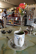 "Peru - Monday, Dec 16 2002: A cup of coca tea stands on a table in a small cafe on the Altiplano. Coca tea is often used to allieviate the symptoms of altitude sickness. Coca tea comes from the coca plant (Erythroxylum coca). It is often called ""la Hoja de Coca"" (the leaf of coca) or Coca del Peru (coca of Peru). (Photo by Peter Horrell / http://www.peterhorrell.com)"