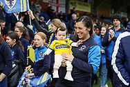 Young baby in AFC Wimbledon shirt during the EFL Sky Bet League 1 match between AFC Wimbledon and Bolton Wanderers at the Cherry Red Records Stadium, Kingston, England on 7 March 2020.