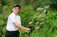 Aodhagan Brady (Co. Sligo) during the Connacht U14 Boys Amateur Open, Ballinasloe Golf Club, Ballinasloe, Galway,  Ireland. 10/07/2019<br /> Picture: Golffile   Fran Caffrey<br /> <br /> <br /> All photo usage must carry mandatory copyright credit (© Golffile   Fran Caffrey)