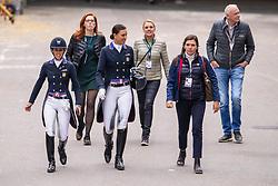 Graves Laura USA, Lyle Adrienne, USA<br /> LONGINES FEI World Cup™ Finals Gothenburg 2019<br /> © Dirk Caremans<br /> 05/04/2019