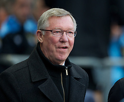 MANCHESTER, ENGLAND - Monday, April 30, 2012: Manchester United manager Sir Alex Ferguson looks on during the Premiership match at the City of Manchester Stadium. (Pic by Chris Brunskill/Propaganda)
