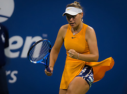 August 29, 2018 - Sofia Kenin of the United States in action during her second round match at the 2018 US Open Grand Slam tennis tournament. New York, USA. August 29th 2018. (Credit Image: © AFP7 via ZUMA Wire)