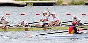 Eton. Great Britain. A Final GER JW8+  after winning the Gold medal in final of the Junior women's single Sculls at Eton Rowing Centre 2011 FISA Junior  World Rowing Championships. Dorney Lake, Nr Windsor. Sunday  07/08/2011   [Mandatory credit: Peter Spurrier Intersport Images]