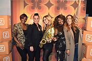 Perslunch van de Ladies of Soul in Club Ziggo te Amsterdam.<br /> <br /> Op de foto:  Trijntje Oosterhuis , Edsilia Rombley , Glennis Grace , Berget Lewis en Candy Dulfer