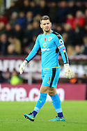 Burnley Goalkeeper Thomas Heaton looks on. Premier League match, Burnley v Crystal Palace at Turf Moor in Burnley , Lancs on Saturday 5th November 2016.<br /> pic by Chris Stading, Andrew Orchard sports photography.