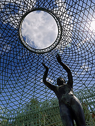 Sculpture in Sanssouci palace gardens in Potsdam Germany