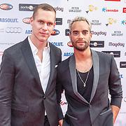 NLD/Amsterdam/20150629 - Uitreiking Rainbow Awards 2015, Freek Bartels en zwemmer Johan Kenkhuis
