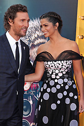 Matthew McConaughey and wife Camila Alves, Universal Pictures film premiere for Sing at LA Live (Los Angeles, CA.)