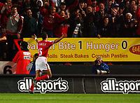 Photo. Daniel Hambury.<br />The Barclays Premiership.<br />Charlton Athletic V Blackburn Rovers. 27/09/2004.<br />Charlton Athletic's Talal El Karkouri celebrates his goal