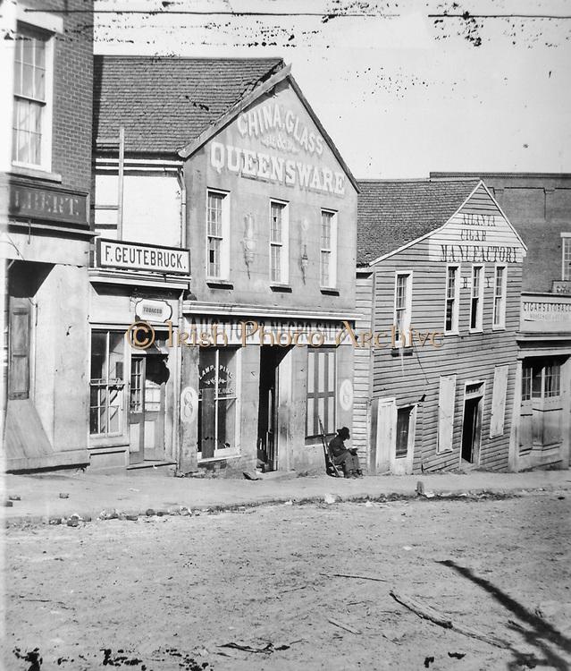 Slave auction shop, Atlanta, Georgia, USA c1860-1862.