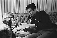 Description/Caption:<br /> 1959. Lake Lugano in Switzerland. Romy Schneider, Austrian actress and Alain Delon, French actor, spend the weekend at Romy's mother's house.<br /> <br /> <br /> 1959. Lac Lugano en Suisse. Romy Schneider actrice autrichienne et Alain Delon, acteur français, passent le week-end à la maison de la mère de Romy .