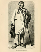 Slavonian Peasant [Croatia] engraving on wood From The human race by Figuier, Louis, (1819-1894) Publication in 1872 Publisher: New York, Appleton