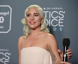 24th Annual Critics Choice Awards - Press Room. 13 Jan 2019 Pictured: Lady Gaga. Photo credit: MEGA TheMegaAgency.com +1 888 505 6342