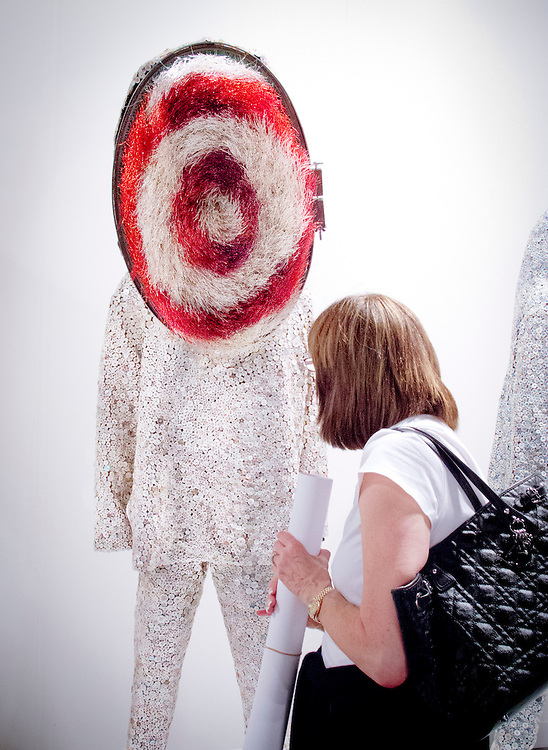"""""""Soundsuit"""" by Nick Cave at the Jack Shainman Gallery's booth at Art Basel Miami Beach 2010."""