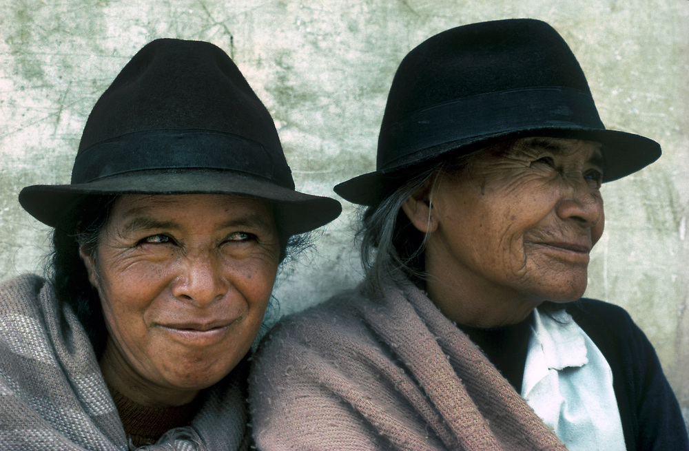 Mother (right) and daughter, Riobamba Market,Chimborazo Province, Ecuador