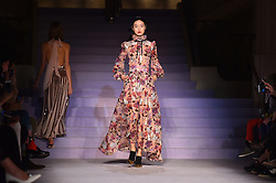Models on the catwalk during the Temperley Autumn/Winter 2017 London Fashion Week show at Banking Hall, London.