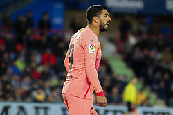 January 6, 2019 - Getafe, Madrid, Spain - Luis Suarez of Barcelona in action during the spanish league, La Liga, football match between Getafe and Barcelona on January 06, 2019 at Coliseum Alfonso Perez in Getafe, Madrid, Spain. (Credit Image: © AFP7 via ZUMA Wire)