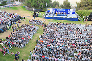Israel, Haifa, The alumni and faculty members of the Haifa university during the graduation ceremony. June 2010