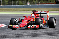 05 VETTEL sebastian (ger) ferrari sf15t action during 2015 Formula 1 FIA world championship, Spain Grand Prix, at Barcelona Catalunya from May 8th to 10th. Photo Gregory Lenormand / DPPI