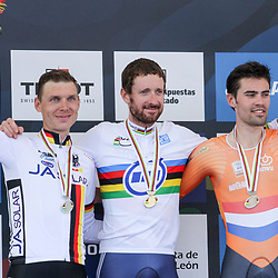 24-09-2014: Wielrennen: WK tijdrijden Elite mannen: Ponferrada<br /> WIELRENNEN PONFERRADA SPAIN TIME TRAIL MEN<br /> podium elite mannen