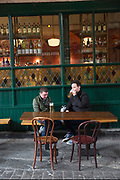Lunch time at The Market Bar restaurant on 04th April 2017 in Dublin, Republic of Ireland. Dublin is the largest city and capital of the Republic of Ireland.