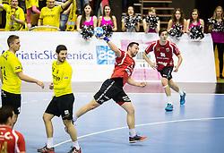 Marcel Hess of Winterthur during handball match between RK Gorenje Velenje (SLO) and Pfadi Winterthur (SUI) in Group Phase of EHF European Cup 2014/15, on March 8, 2015 in Rdeca dvorana, Velenje, Slovenia. Photo by Vid Ponikvar / Sportida