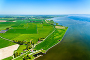 Nederland, Friesland, Súdwest-Fryslân, 07-05-2018; Laaxum (Laaksum), buurtschap in Gaasterland, met kleinste haventje van Friesland.<br /> Hamlet in Gaasterland, with smallest harbor in Friesland.<br /> <br /> luchtfoto (toeslag op standard tarieven);<br /> aerial photo (additional fee required);<br /> copyright foto/photo Siebe Swart