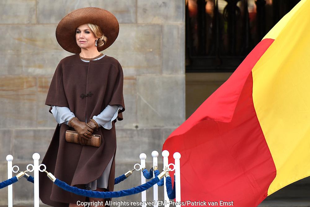Staatsbezoek aan Nederland van Zijne Majesteit Koning Filip der Belgen vergezeld door Hare Majesteit Koningin <br /> Mathilde aan Nederland.<br /> <br /> State Visit to the Netherlands of His Majesty King of the Belgians Filip accompanied by Her Majesty Queen<br /> Mathilde Netherlands<br /> <br /> op de foto / On the photo: Koningin Maxima / Queen Maxima