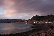 Long exposure image taken just before sunset at Sheildaig, on Loch Torridon, north-west Highlands of Scotland