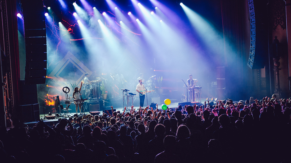 St. Lucia performing at the Fox Theater in Oakland, CA on October 7, 2016