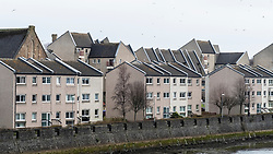 View of social housing in central Ayr , Ayrshire, Scotland, UK