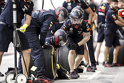 March 30, 2019 - Sakhir, Bahrain - Motorsports: FIA Formula One World Championship 2019, Grand Prix of Bahrain, ..Mechanic during pit stop  (Credit Image: © Hoch Zwei via ZUMA Wire)