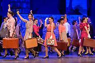 "Goshen, New York  - Goshen High School students perform ""42nd Street"" in the auditorium on March 15, 2018."