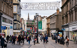 Dundee, Scotland, UK. 27 November 2020 . Views of streets of Dundee in Tayside on Black Friday sales with many shoppers buying Christmas shopping during a level 3 lockdown during Covid-19 pandemic. Pictured; Busy Murraygate shopping precinct. Iain Masterton/Alamy Live News