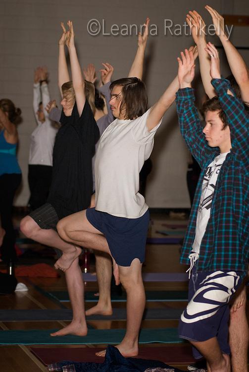 Yoga at Whistler Secondary school