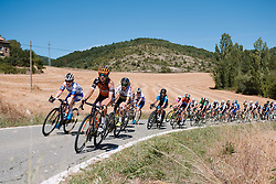 Eva Buurman (NED) leads the bunch at the 2020 Clasica Feminas De Navarra, a 122.9 km road race starting and finishing in Pamplona, Spain on July 24, 2020. Photo by Sean Robinson/velofocus.com