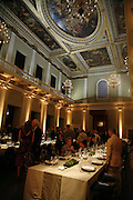 VIP opening of Bill Viola exhibition Love/Death: The Tristan project. Haunch of Venison, St Olave's College, Tooley St. London and Dinner afterwards at Banqueting House. Whitehall. 19 June 2006. ONE TIME USE ONLY - DO NOT ARCHIVE  © Copyright Photograph by Dafydd Jones 66 Stockwell Park Rd. London SW9 0DA Tel 020 7733 0108 www.dafjones.com
