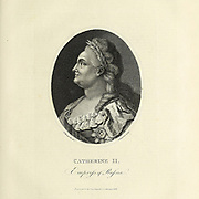 Catherine II (born Sophie of Anhalt-Zerbst; 2 May 1729 in Szczecin – 17 November 1796), most commonly known as Catherine the Great, was Empress of All Russia from 1762 until 1796—the country's longest-ruling female leader. She came to power following a coup d'état that overthrew her husband and second cousin, Peter III. Under her reign, Russia grew larger, its culture was revitalised, and it was recognized as one of the great powers worldwide. Copperplate engraving From the Encyclopaedia Londinensis or, Universal dictionary of arts, sciences, and literature; Volume XXII;  Edited by Wilkes, John. Published in London in 1827