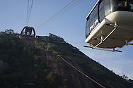 The cable car to Morro da Urca which is the halfway stop to get to the top of Sugarloaf. Scenes from Rio de Janeiro on the day that Brazil drew 0-0 with Mexico. Photo by Andrew Tobin/Tobinators Ltd