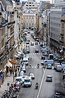 Paris, France. View from Rue du Faubourg Saint-Honore.